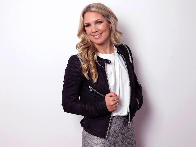 """Anna Brolin syns just nu som programledare för """"Biggest loser"""" och fotbolls-VM för damer."""
