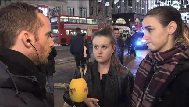 """Vittne i London: """"Folk fick panik och sprang i rulltrapporna"""""""