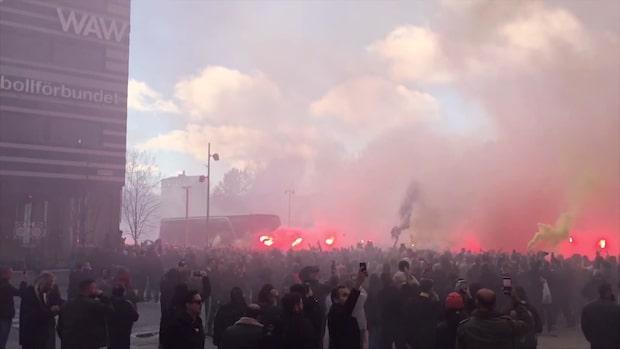 AIK-fansens mäktiga välkomnande inför premiären