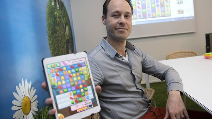 Sebastian Knutsson är grundare och kreativ chef för spelföretaget King. Foto: BERTIL ENEVÅG ERICSON / TT