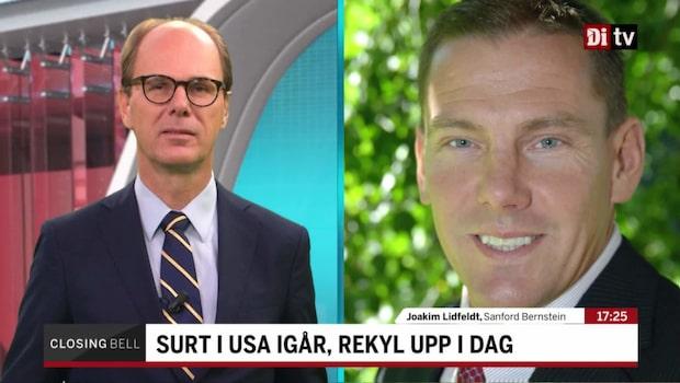 """Lidfeldt: """"En konstig dag på USA-börserna"""""""