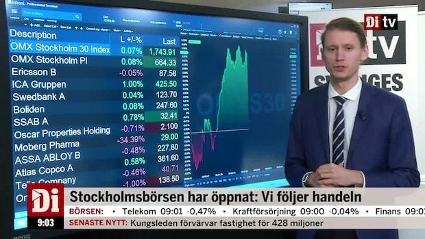 Marknadskoll: Börsen runt nollan - Moberg Pharma rasar