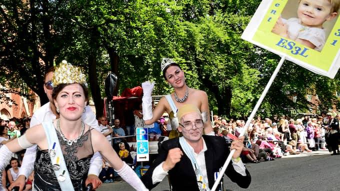 Karnevalståget är höjdpunkten under karnevalen i Lund. Drygt 5 000 studenter jobbar ideellt under karnevalshelgen den 18 till 20 maj. Foto: LUDVIG THUNMAN / LUDVIG THUNMAN EXPRESSEN