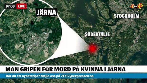 Man gripen för mord på kvinna i Järna