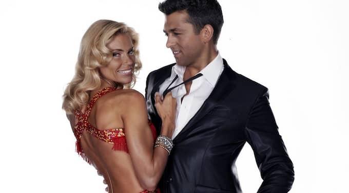Anna Anka tillsammans med sin danspartner Glenn Jörgen Sandaker. Foto: Bjørgli & Bergersen