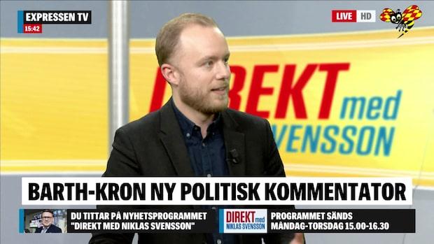 Viktor Barth-Kron är ny politisk kommentator på Expressen