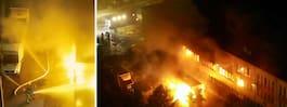 35 brandmän i kamp mot lågor i industri