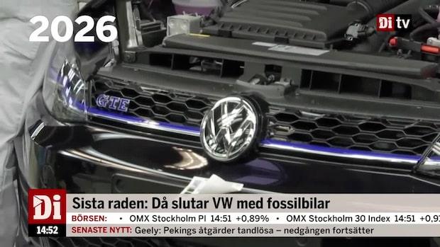 Dagens siffra: Då slutar Volkswagen med fossilbilar