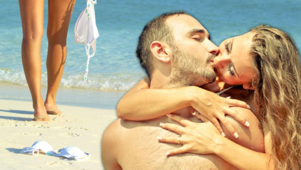 Smekmånad par har sex