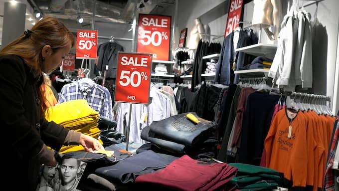Modehandeln minskade sin försäljning i januari. Foto: / FOTOGRAFERNA HOLMBERG / TT NYHETSBYRÅN
