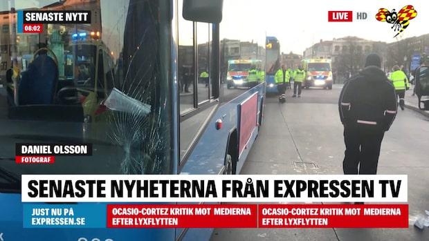 Ung man påkörd av linjebuss i Göteborg