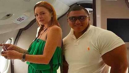 Lindsay Lohan och Je-yong Ha. Foto: INSTAGRAM