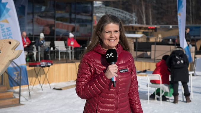 Marie Lehmann i Pyeongchang. Foto: SVEN LINDWALL