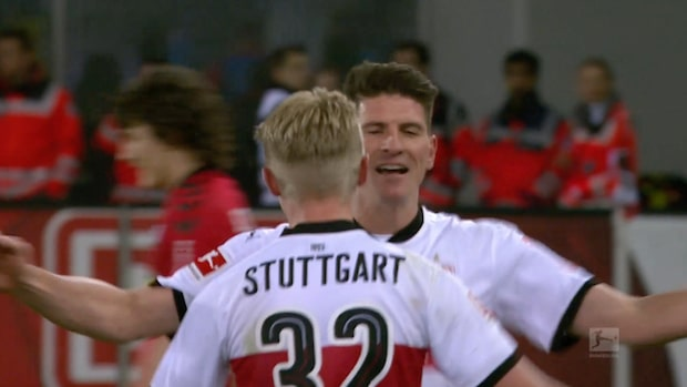 Mario Gomez frälste Stuttgart med dubbelmål