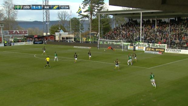 Jesper Svensson gör 2-1 för Jönköpings Södra