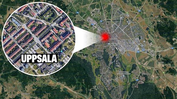 Kvinna påkörd i centrala Uppsala – förd med ambulans till sjukhus