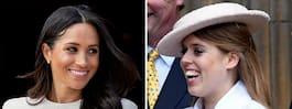 Meghan och prinsessan  Beatrice är lika som bär