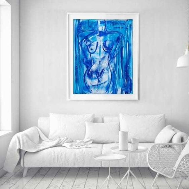 <span>Målningen föreställer en gudinna som är född ur havet.<br></span>