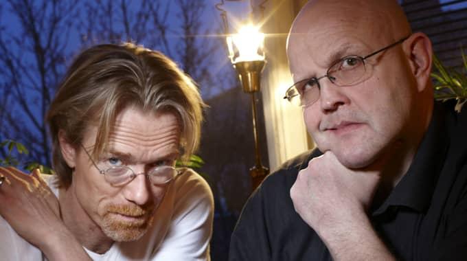 Börge Hellström (till höger) skrev böcker tillsammans med sin deckarpartner Anders Rolsund. Foto: Peter Knutson / OKÄND