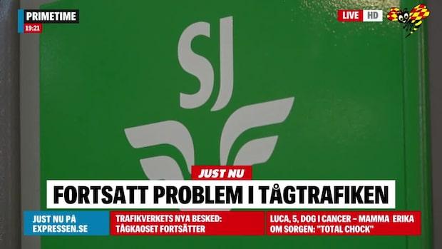 Fortsatt stopp mellan Hässleholm och Höör
