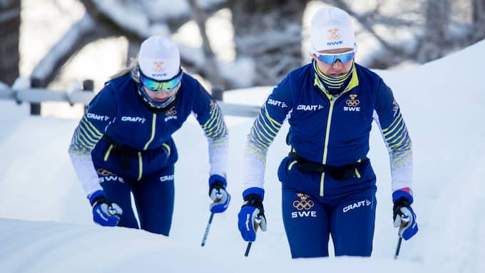Stina Nilsson och Anna Haag är osäkra. Foto: CHRISTINE OLSSON/TT / TT NYHETSBYRÅN