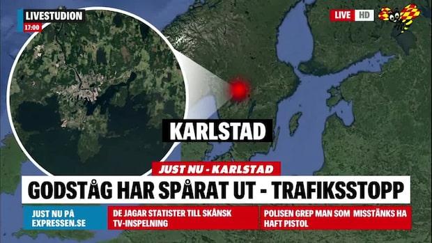 Godståg har spårat ur i Karlstad