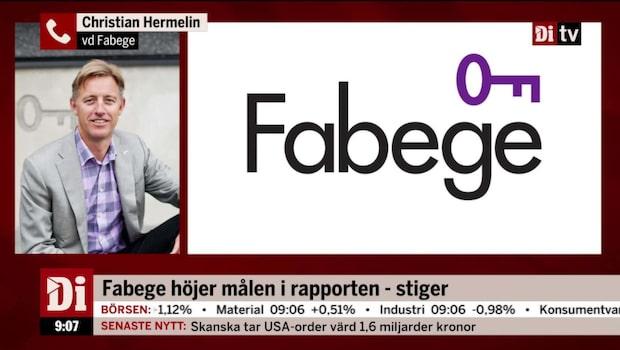 """Fabeges vd: """"På sin plats att vi höjer målsättningen"""""""
