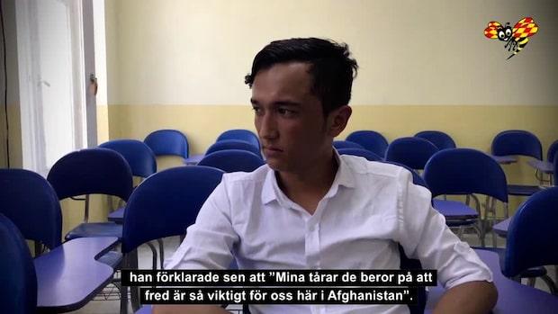 """Mustafa, 23: """"Fred är afghanernas största förhoppning"""""""