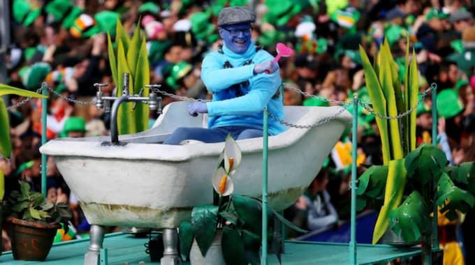 Här firas St Patricks' day i Dublin. Foto: Niall Carson / AP TT NYHETSBYRÅN