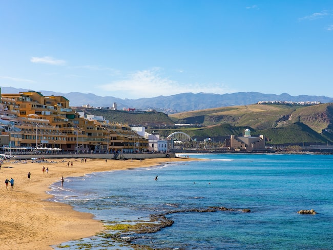 Paseo de Las Canteras, strandpromenaden vid Playa de las Canteras.