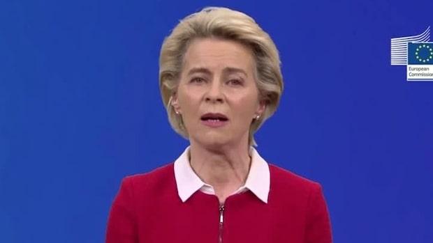 """EU-kommisionens ordförande: """"Bästa scenariot – vaccin till april"""""""