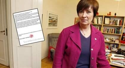 Mona Sahlin har inte skickat brevet som nu cirkulerar i politiska kretsar.
