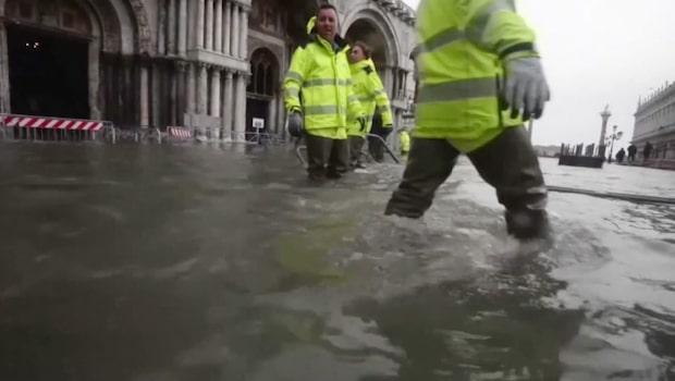 Tre fjärdedelar av Venedig under vatten