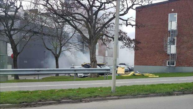 Explosion i Lund –vägg blåstes bort