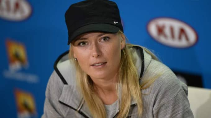 Maria Sjarapova testade positivt för doping under Australian Open tidigare i år. Foto: Franck Robichon / Epa / Tt