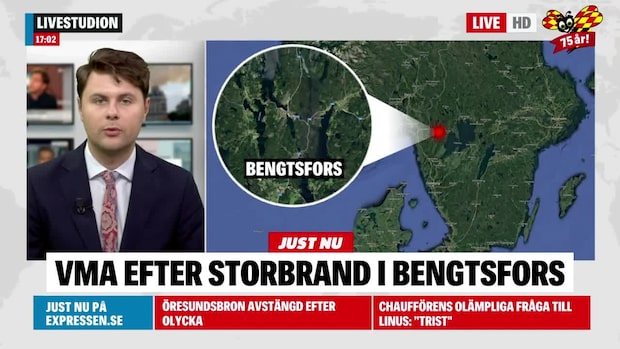 Kraftig rökutveckling i Bengtsfors – VMA utfärdat