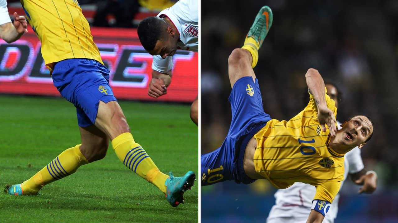 Fyra mål mot England – nu säljs Zlatans skor • Skänktes till