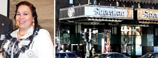 Diana Nyman från Romska rådet nekades att äta frukost på hotell Sheraton i Stockholm.