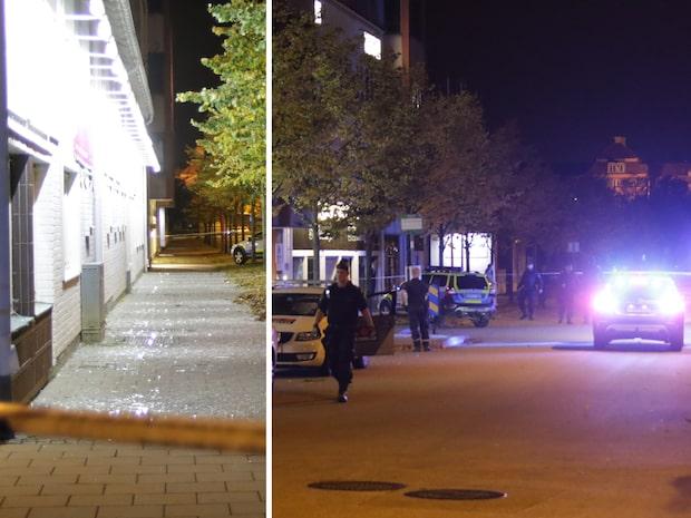 Sprängning vid polishus – stora skador