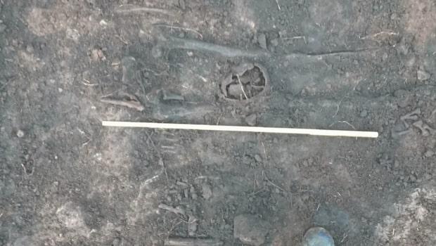 Halshuggna vikingar hittade mitt på torg