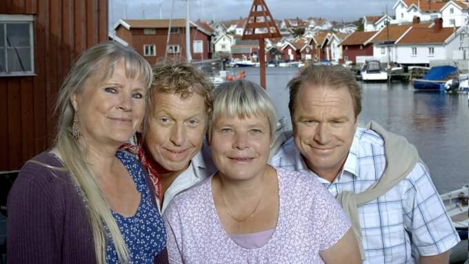 """En fjärde säsong av SVT-serien """"Saltön"""", som bygger på böcker av Viveca Lärn, har premiär i augusti. Tittarna får bland annat återse karaktärerna Johanna (Ulla Skoog), Thomas Blomgren (Tomas von Brömssen), Emily Blomgren (Anki Larsson) och ostronfiskaren Bengt (Claes Malmberg). Foto: SVT"""