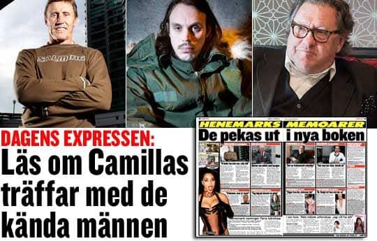 Börje Salming, Andreas Kleerup och Tommy Körberg pekas ut i Camilla Henemarks bok.