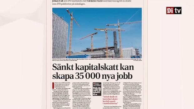 Ny studie visar att det skapas 35.000 nya jobb om kapitalskatten sänks