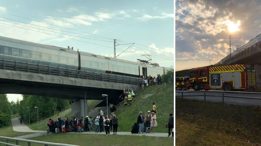 Förra veckan evakuerade resenärer sig själva efter att ett tåg