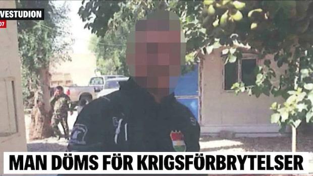 En man döms i Örebro tingsrätt för krigsförbrytelser