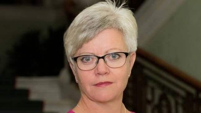 Annika Qarlsson (C), ordförande för Centerpartiet VG Västra. Foto: PRESSBILD