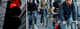 Här ska cyklister  få cykla mot rött