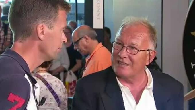 Antikrundans expert Torgny Schunnesson blir rörd när han ser vad som kommer in i programmet. Foto: Faksimil SVT