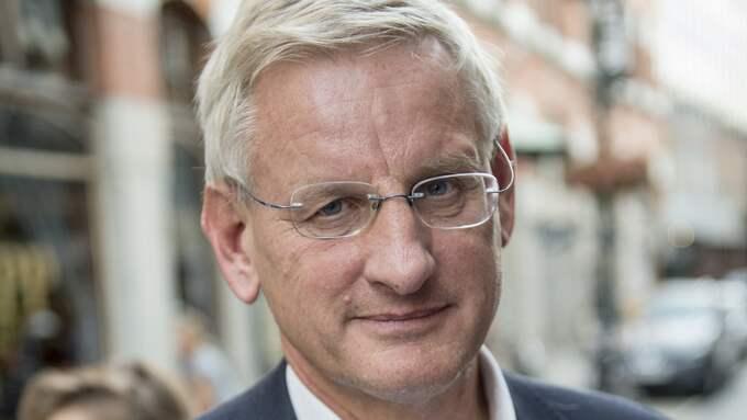 Gissa statsministern. Flum Flum? Nej, Carl Bildt! Foto: TOMAS LEPRINCE
