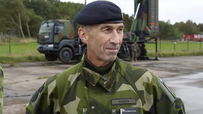 Micael Bydén är på plats i Göteborg under försvarsövningen Aurora 17. Foto: HENRIK BRUNNSGÅRD / TT NYHETSBYRÅN